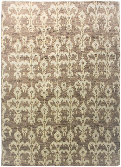 """Hand Knotted Ikat Rug - 8'11"""" X 13'0"""""""
