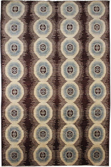 """Hand Knotted Ikat Rug - 10'2"""" X 14'7"""""""
