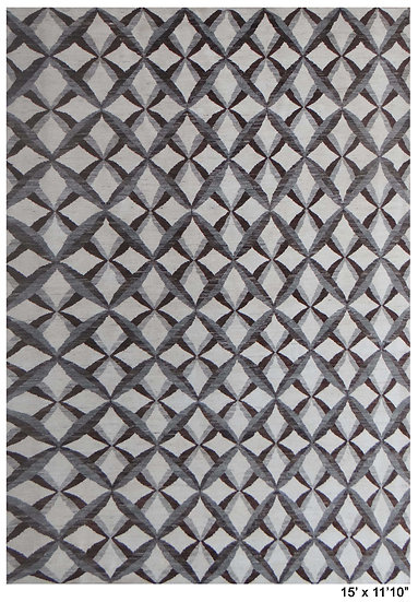 """Hand Knotted Modern Navajo Rug. 11'10"""" x 15'0"""""""