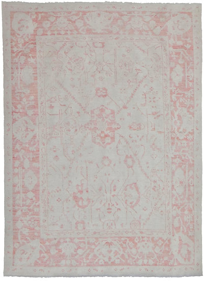 """Hand Knotted Fine Oushak Rug - 7'10"""" X 6'2"""""""