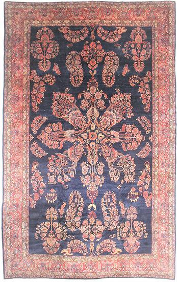 """Hand Knotted Antique Saruk Mahajirian. 10'10"""" x 16'5"""""""
