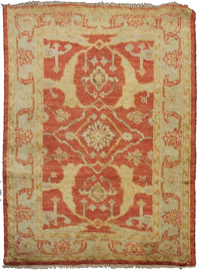 """Hand Knotted Fine Oushak Rug -4'10"""" x 3'5"""""""