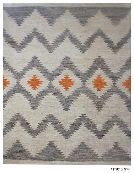 """Hand Knotted Navajo Rug - 9'4"""" x 11'10"""""""