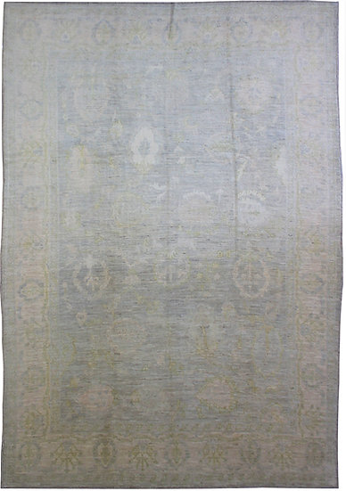 """Hand Knotted Oushak Rug - 9'8' x 12'8"""""""