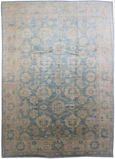 """Hand Knotted Oushak Rug - 9'0"""" x 12'0"""""""