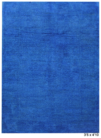 """Hand Knotted Oushak Rug -3'5"""" x 4'10"""""""