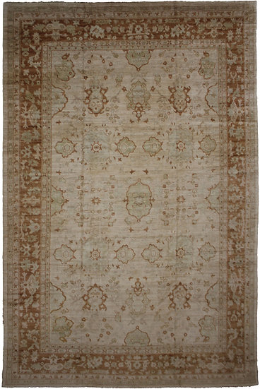 """Aara Rugs Hand Knotted Oushak Rug- 12′2″ × 16′0"""""""