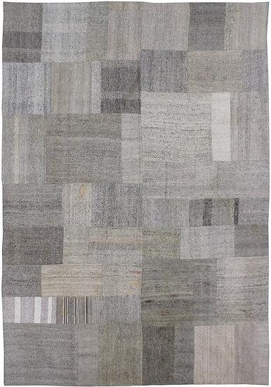 """Hand Knotted Antique Patchwork Kilim - 9'3"""" x 12'0"""""""