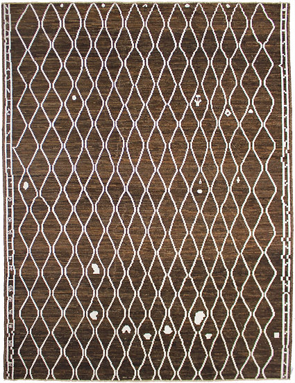 "Hand Knotted Moroccan Rug - 9'3"" x 12'0"""