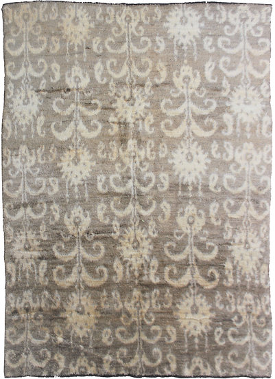 """Hand Knotted Ikat Rug - 8'0"""" X 10'1"""""""