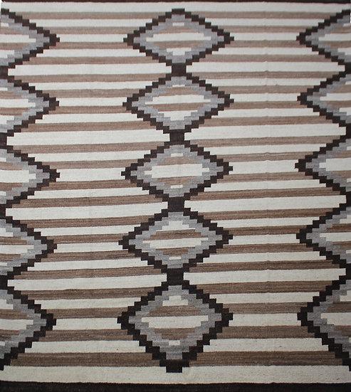 "Hand Knotted Natural wool Navajo Rug  12'0"" x 14'6"""