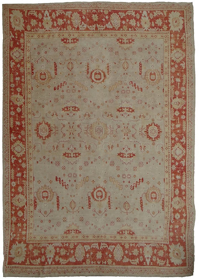 Hand Knotted Oushak Rug -13′4″ × 17′11″