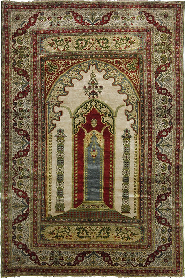 "Hand Knotted Turkish Rug - 4'6"" x 5'10"""