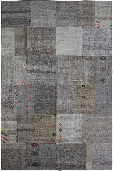 "Hand Knotted Antique Patchwork Kilim - 8'1"" x 11'7"""