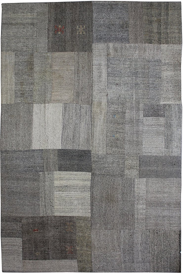 """Hand Knotted Antique Patchwork Kilim - 8'2"""" x 12'7"""""""