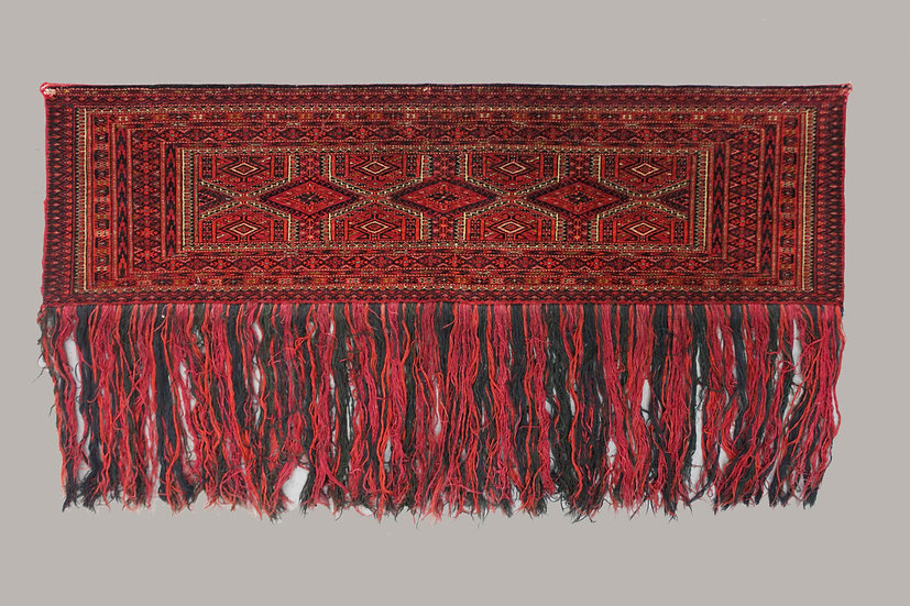 "Hand Knotted Antique Turkish Juwal / Chuval.  4'3"" x 1'3"""