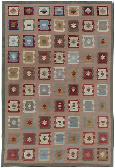 Hand Knotted Modern Kilim - 12′1″ × 17′7″