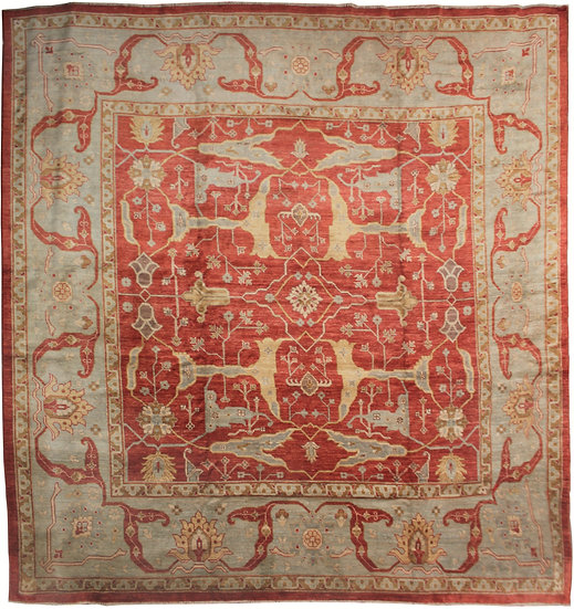 """Hand Knotted Oushak Rug 12'0"""" x 12'0"""""""
