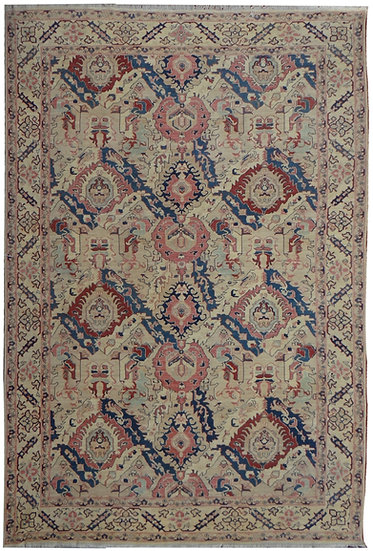"""Hand Knotted Oushak Rug - 10'8"""" X 13'10"""""""