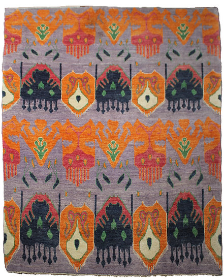 "Hand Knotted Ikat Rug - 9'5"" x 12'5"""