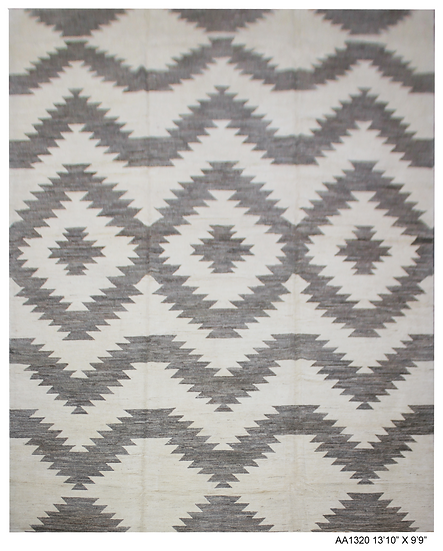 "Hand Knotted Navajo Rug - 9'9"" x 13'2"""