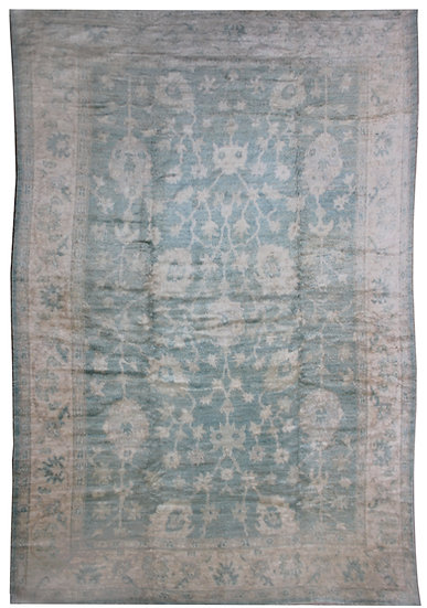 "Hand Knotted Fine Oushak 9'10"" x 13'10"""
