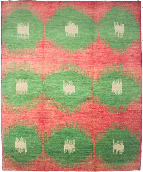 """Hand Knotted Ikat Rug - 10'7"""" X 13'2"""""""