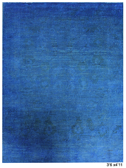 """Hand Knotted Over dyed Oushak Rug - 3'6"""" x 4'11"""""""