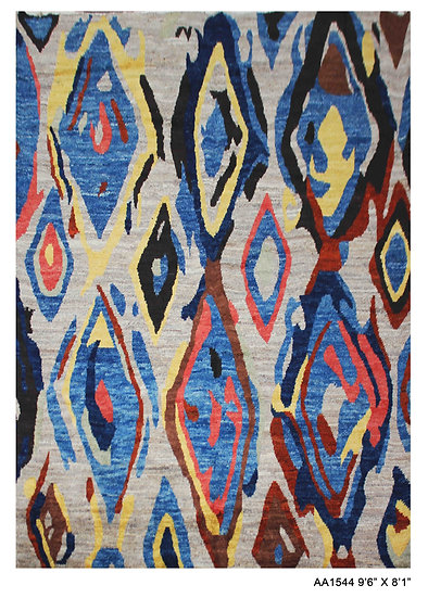"""Hand Knotted Modern Moroccan Rug 8'1"""" x 9'6"""""""