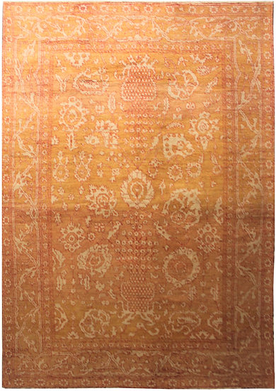 """Hand Knotted Fine Oushak Rug - 9'6"""" x 13'3"""