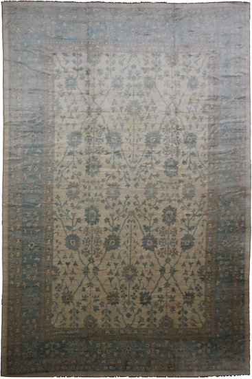 """Hand Knotted Oushak Rug - 16'9"""" X 12'11"""""""