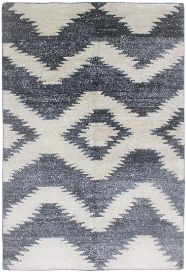 "Hand knotted environmentally friendly Bamboo and silk rug- 9'0"" x 12'0"""