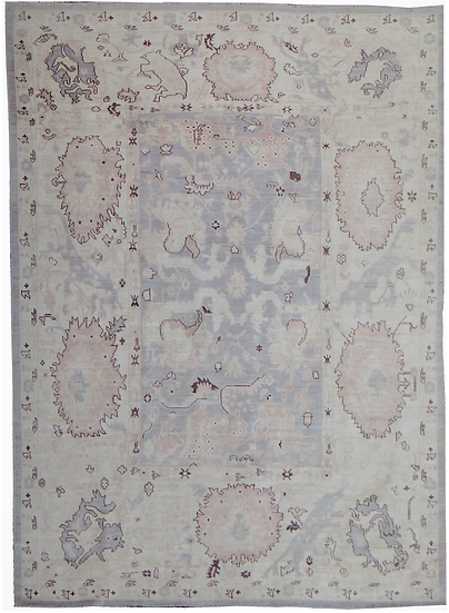 """Hand Knotted Oushak Rug  - 12'0"""" X 8'11"""""""