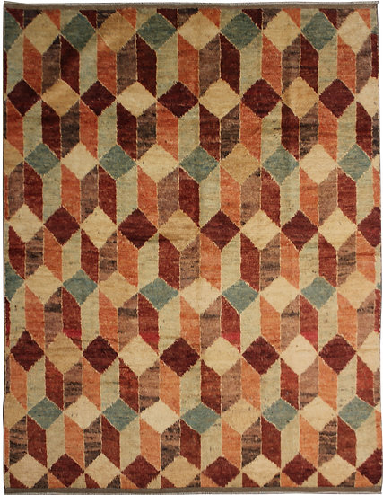 "Hand Knotted Modern Shag Rug  - 8'7"" X 7'5"""