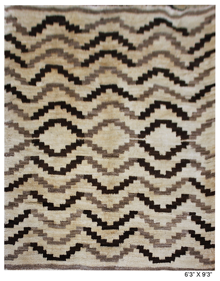 """Hand Knotted Navajo Rug - 6'3"""" x 9'3"""""""