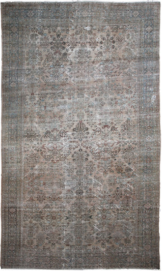 """Hand Knotted Antique Mahal Rug - 19'10"""" X 11'9"""""""