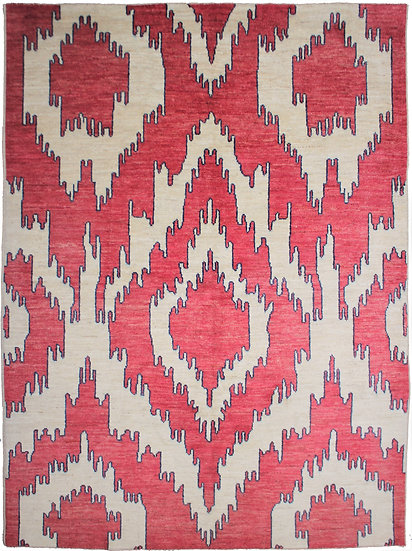 """Hand Knotted Ikat Rug - 9'5"""" x 12'0"""""""