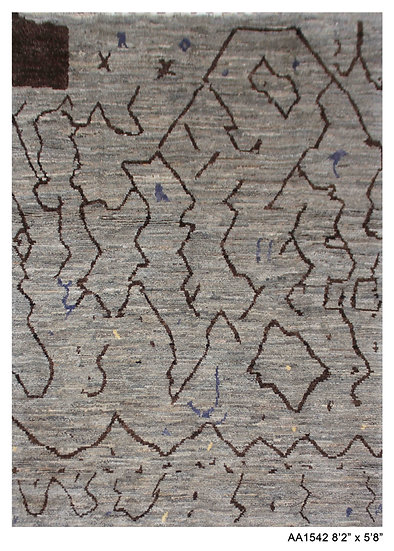 """Hand Knotted Modern Moroccan Rug 5'8"""" x 8'2"""""""