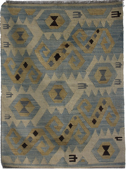 """Hand Knotted Kilim - 4'1"""" X 2'10"""""""