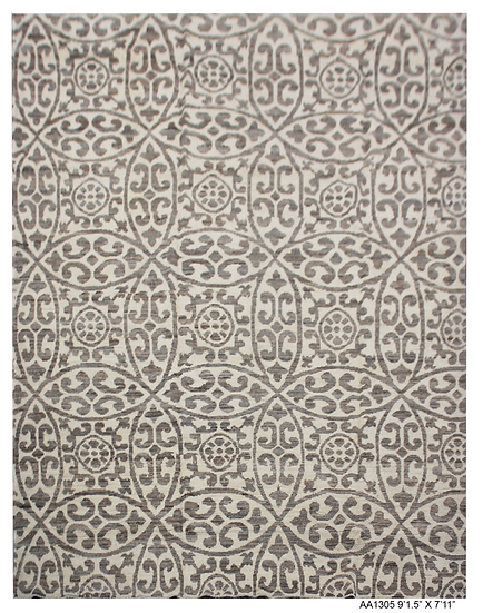 """Hand Knotted Ikat / Gabbeh Rug. 7'11"""" x 9'5"""""""