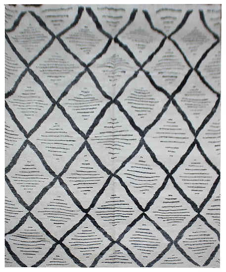 """Hand knotted environmentally friendly Bamboo and silk rug  - 9'0"""" x 12'0"""""""