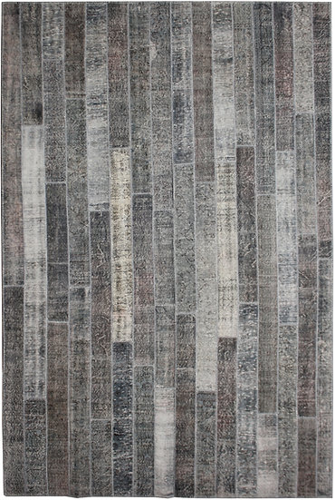 """Hand Knotted Antique Patchwork Rug - 8'4"""" x 11'9"""""""