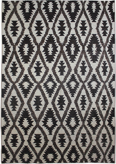 """Hand Knotted Natural Wool & Cotton Navajo Rug  12'0"""" x 15'2"""""""