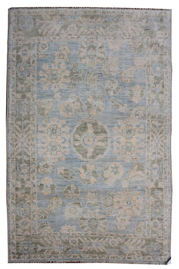 """Hand Knotted Oushak Rug - 5'3"""" x 8'0"""""""