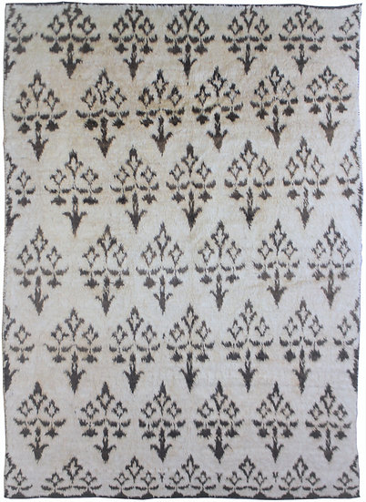 "Hand Knotted Ikat Rug - 8'3"" x 10'10"""