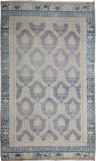 """Hand Knotted Oushak Rug - 6'9"""" x 10'1"""""""