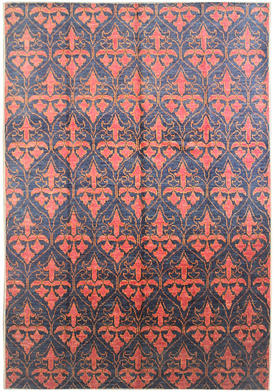 """Hand Knotted Ikat Rug - 9'3"""" x 12'2"""""""