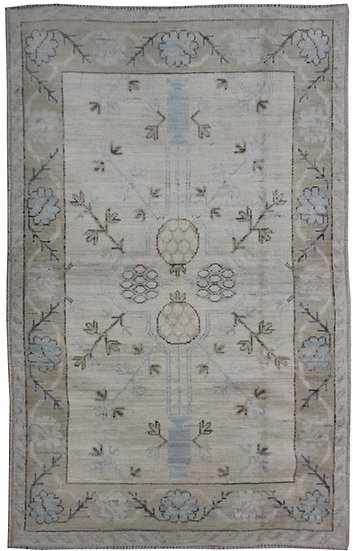 """Hand Knotted Oushak Rug - 4'0"""" x 6'0"""""""