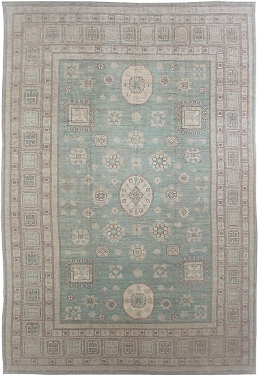 "Hand Knotted Khutan Rug - 9'11"" x 13'10"""