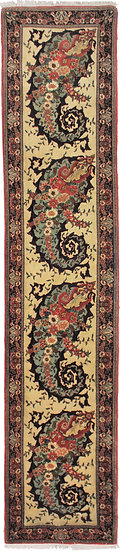"""Hand Knotted Simi Antique Runner - 10'10"""" X 2'4"""""""
